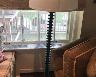 Standing  ebony lamp