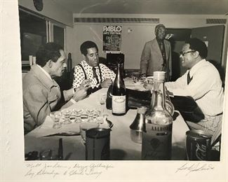Dizzy Gillespie and friends signed photo