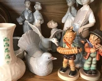Lladro Beleek and Hummel