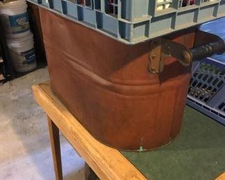 Copper washtub