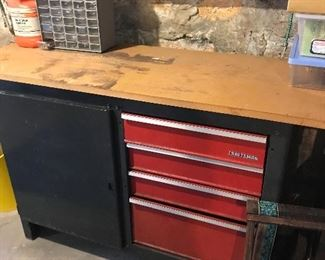 Craftsman cabinet and tools