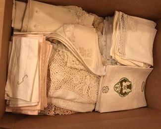 Vintage European linens and lace