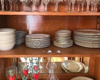 Kosta Boda Heart glasses and  bowls