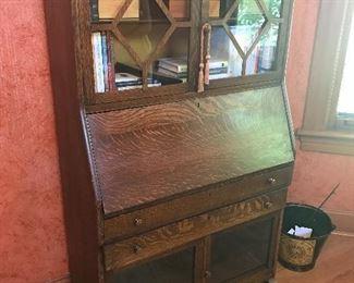 Antique oak hutch