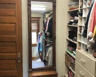 Antique Eastlake standing mirror
