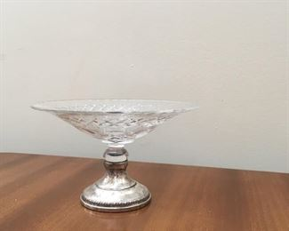 pretty glass and sterling dish