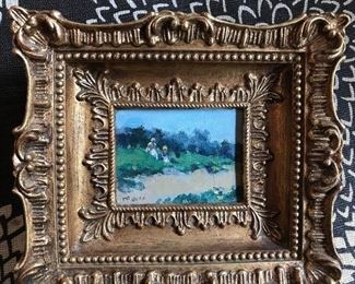 Miniature oil on canvas by Frederick McDuff