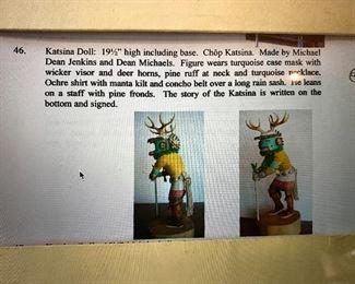 "Katsina Doll 19 1/2"" high by Michael Dean Jenkins and Dean Michaels"