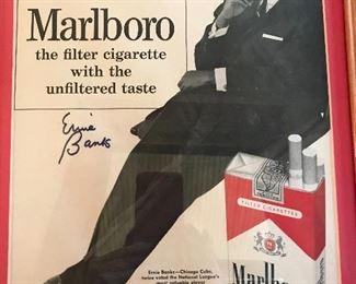 Ernie Banks signed advert
