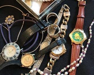 Lots of jewelry and watches