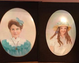 Porcelain portrait plaques