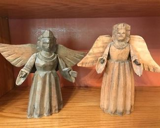 carved  Mexican angels