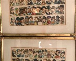"""Vintage prints - """"Classes of People""""..... quaint."""
