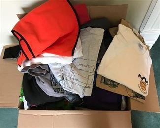 Box of Tee Shirts and shorts
