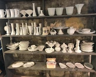 Tons of Milk glass