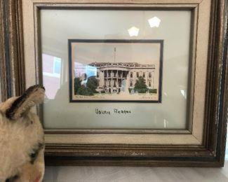 Nancy Reagan signed print