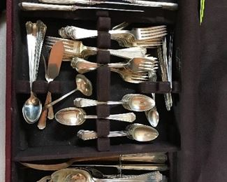 """Gotham sterling silver set.  Over 140 pieces """"S"""" monogrammed"""