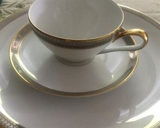 Lovely Bavarian china set with serving pieces
