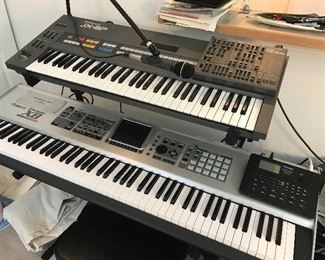 Roland PG-800 Controller, The Fantom-X music workstation/synthesizer, and more