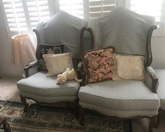Large Mouton/ French 19th Century Style Arm Chairs