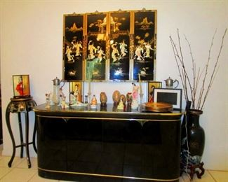 Japanese Black Lacquer Buffet