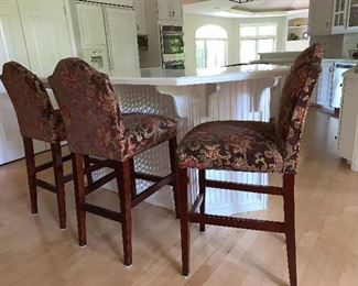3 Upholstered Bar/Counter stools