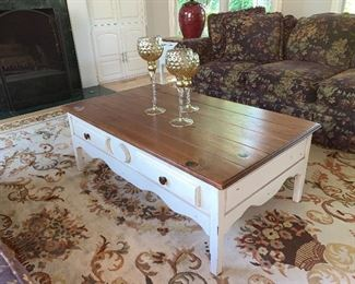 Wood  Coffee Table (rug not for sale)