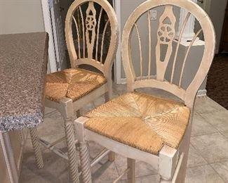 Rush seat Bar/Counter stools