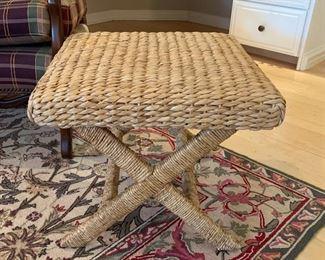 Matching cane rush stools