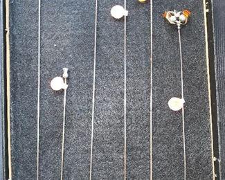 6 Vintage Sterling Thistle hat pins