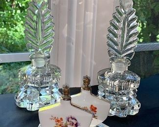 Collection of vintage perfume bottles