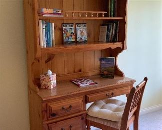 Another Bookcase/Desk and chair; Knotty Pine