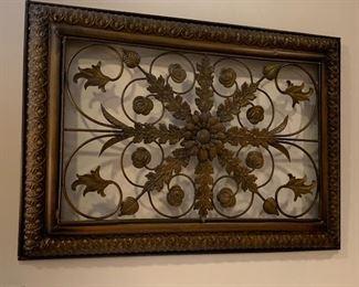 1 of 2 metal wall art
