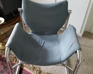 Chrome fabric occassional chair