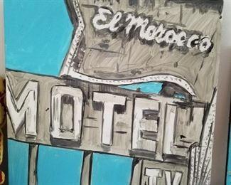 Original Painting El Morroco Motel