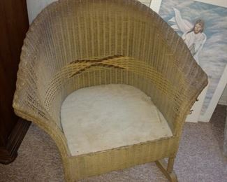 Antique children's wicker chair.