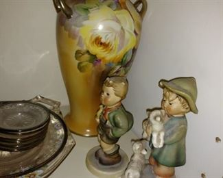 Hummel's and Porcelain vase