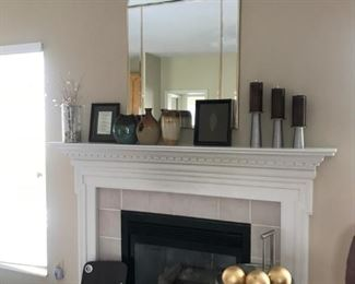 Large Mirror over fireplace - Beveled Glass very attractive