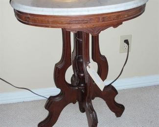 Marble top table $200