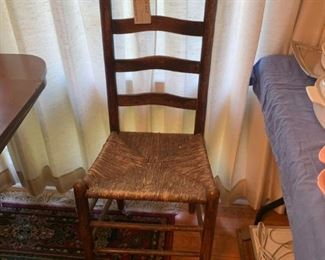 #9latter back basket weave seat dining chair  $30.00