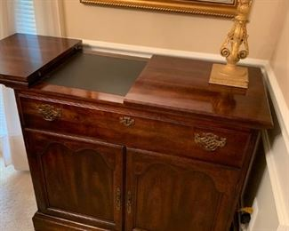 #2		American drew buffet w flip top and 1 drawer 2 doors 36-54x17.5x32	 $275.00