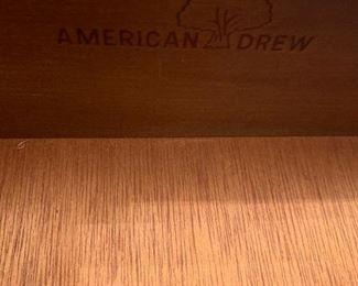 #2American drew buffet w flip top and 1 drawer 2 doors 36-54x17.5x32 $275.00