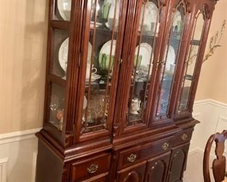 #1		 china cabinet w 3 drawers and 4 doors 59x17x33-80	 $275.00