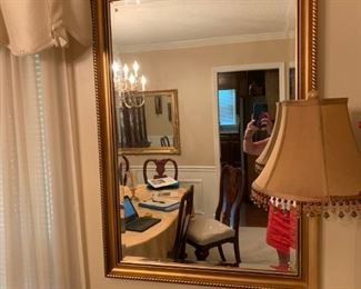#3gold bevel mirror 28x40 $60.00