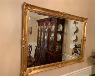 #5carved gold bevel mirror 48x33 $100.00