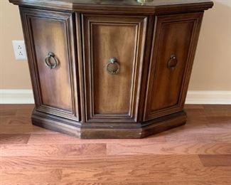 #14entry 1/2 octangle cabinet w 1 door 36x14x28 $75.00