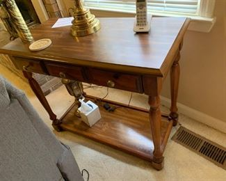 #19laminate sofa table w 2 drawers 36x18x30 $65.00