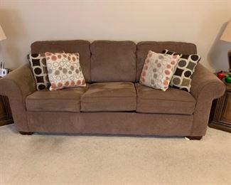 #21brown hide a bed sofa 83 w $120.00