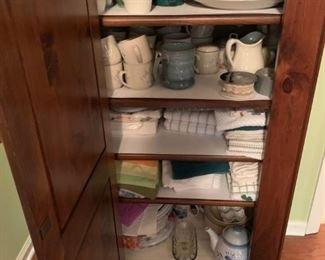 #23pine cabinet w 1 door 4 adjustable shelves 27x16x52 $175.00