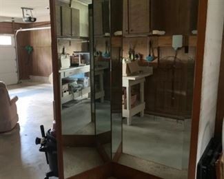 #27		from World Bazar store  3 way mirror 4 ft x 7 ft	 $150.00